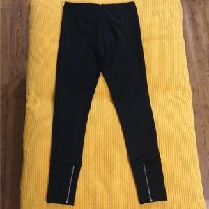 Calvin Klein black women's zip dress pants